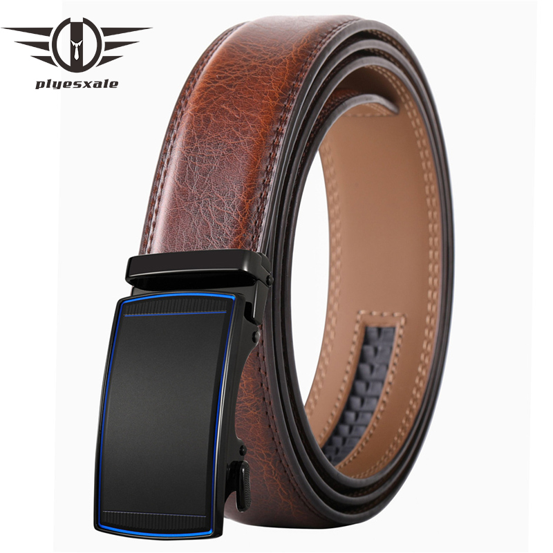 Mens Belt Automatic Buckle High Quality Genuine Leather Belts For Men Black White Business Work Classic Simple Strap Male B642
