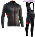 Nw ciclismo moletom ropa maillot ciclismo manga longa outono e inverno ciclismo terno respirável bib calças terno lotto