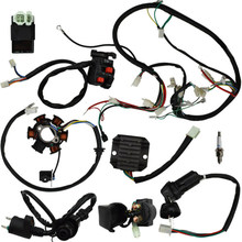 Kabel Harness Universal Listrik Kit Pengganti GY6 125cc 150cc ATV Skuter Motor Switch(China)