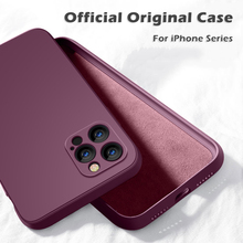 YTD Square Liquid Silicone Case For iPhone 11 12 Pro Max Mini Full Protector Case For iPhone XS MAX XR X 7 8 PLUS SE2 Cover