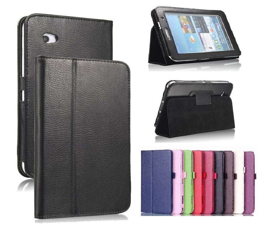 P3100 P3110 Case For Samsung Galaxy Tab 2 7.0 Inch GT- P3100 P3110 Case Smart Magnetic Stand PU Leather Auto-Sleep Case