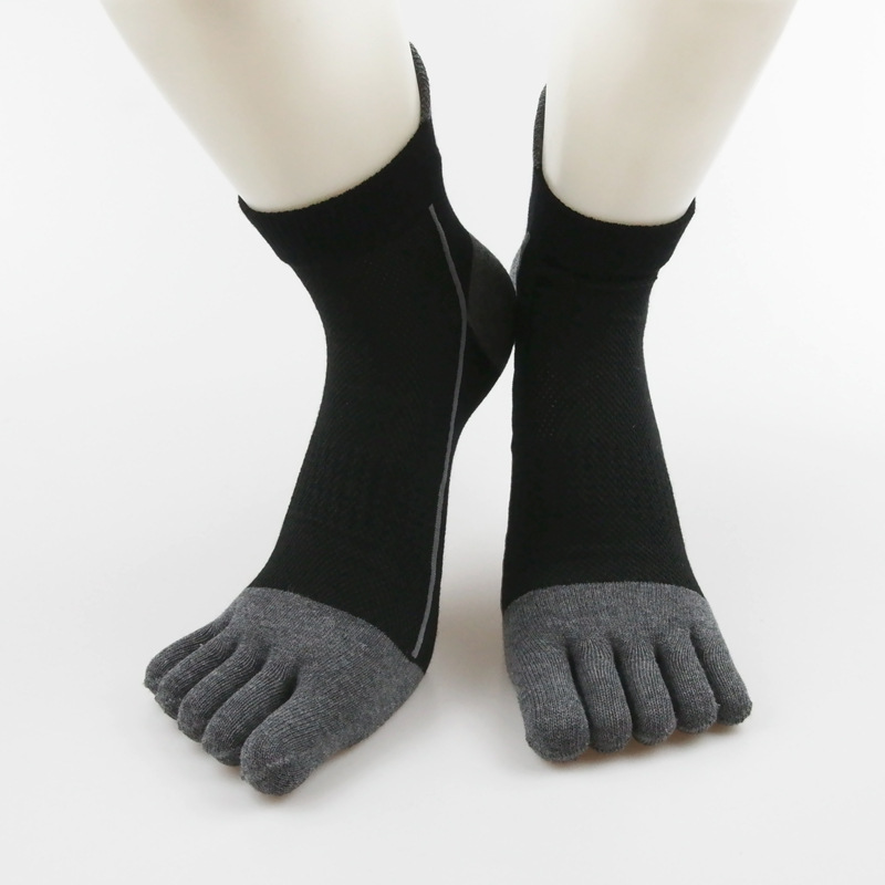1 Pair Men Five Finger Funny Socks Running Elastic Short Sox Casual Breathable Cotton Cycling Sports Boys Male Toe Socks