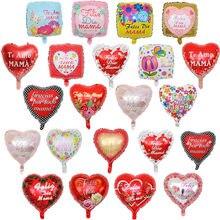 10 pçs 18 polegada espanhol eu amo você mãe forma do coração balões de folha feliz dia das mães decorações festa de aniversário globos mama presentes