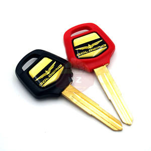 Black Red Motorcycle Blank Key Uncut Blade For HONDA GOLDWING GL1500 GL 1500 GL1800 GL 1800 2001 - 2011 2010 2009 2008 2007 2006