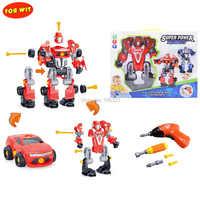 Demontaż i montaż Super robota, 3 w 1 stworzyć & Play konwertery, montaż i demontaż zabawki z elektronicznych wiertarka