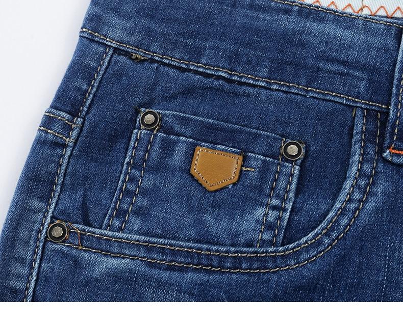 KSTUN Jeans Men Summer 2020 Blue Slim Straight Denim Pants Casual Fashion Men's Trousers Full Length Cowboys Male Jeans Hombre 15