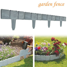 10/20 Pcs Foldable Splice  Yard Lawn Garden Fence Plastic Artificial Stone Courtyard Fence