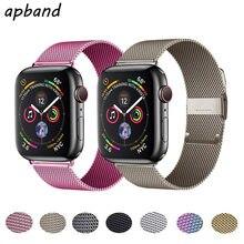 Correa de lazo milanés para Apple Watch, correa de acero inoxidable de 44mm, 40mm, 38mm y 42mm para iwatch series 6 se 5 4 3 2 1