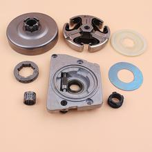 3/8 7T Clutch Drum Sprocket Oil Pump Worm Gear Washer Kit For HUSQVARNA 61 66 266 268 272 Chainsaw chainsaw sprocket rim big 3 8 7t teeth for stihl ms361 381 660 husqvarna 51 55 268 282 365 clutch drum replaces parts 30pcs