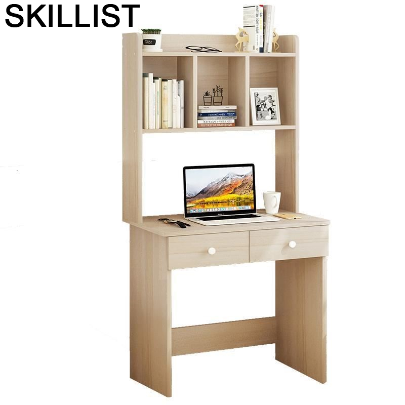 Schreibtisch Standing Dobravel Portatil Lap Bed Tray Office Furniture Computer Desk Laptop Stand Mesa Table With Bookshelf