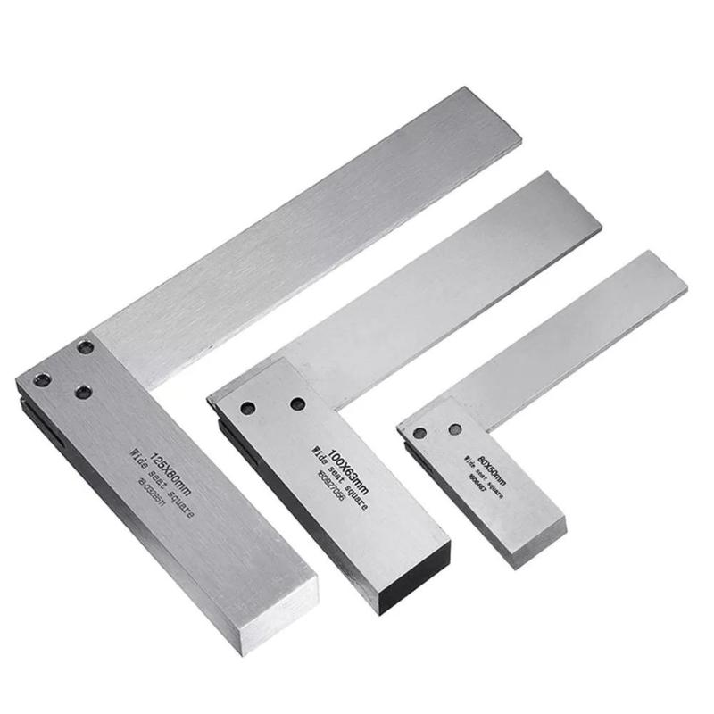 Machinist Square 90 Right Angle Ruler Protractor Carpenter Hardening of Precision Steel for Engineers DIY Auxiliary Tool