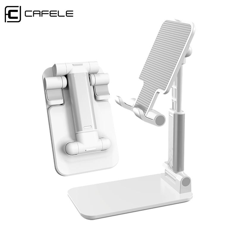 CAFELE Desk Mobile Phone Holder Stand For IPhone Cell Universal Adjustable Alloy Desktop Table Tablet Holder Stand For IPad Pro