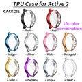 Cackoie 10 cor combinação tpu caso para samsung galaxy assista ativo 2 40mm 44mm protetor de tela fina capa completa acessórios