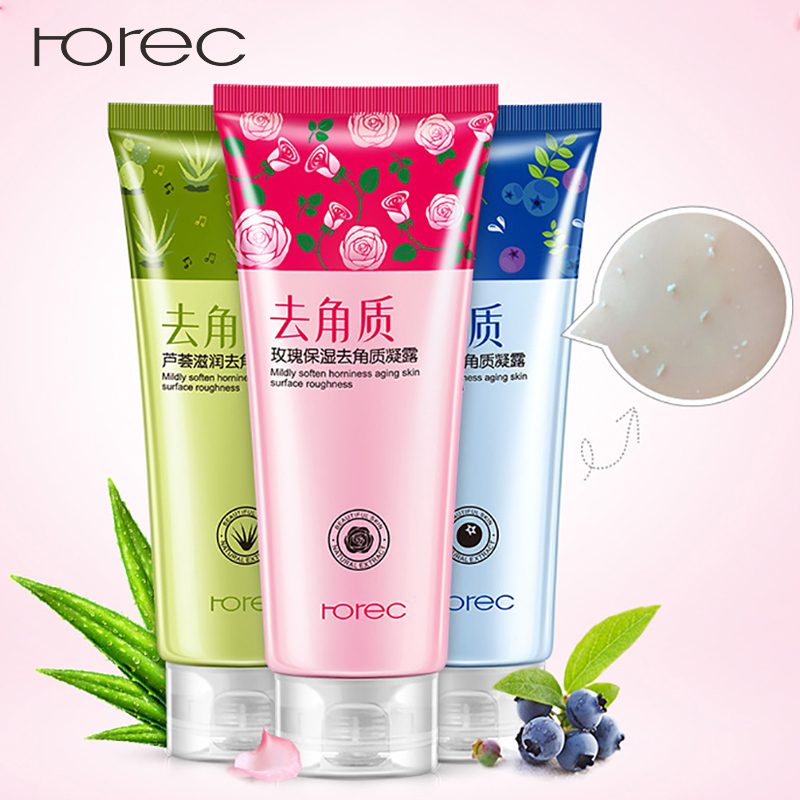 ROREC Hyaluronic Acid Exfoliating Gel 100% Nature Plant Essence Facial Cleanser Whitening Peeling Oil-Control Face Skin Care