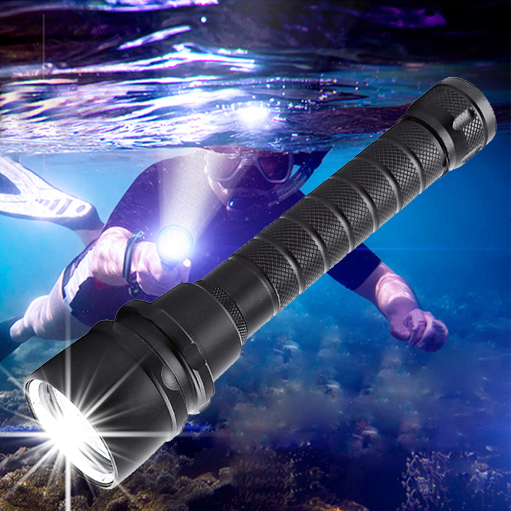 3000 Lumens Scuba Diving Flashlight 5T6/5L2 Professional Portable Dive torch 200M Underwater Waterproof Powerfull Flashlights