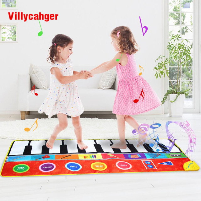 148 x 60cm Big Size Musical Play Mat with Instrument Voices Dancing Game Piano Carpet Educational Intelligence Developing Toys