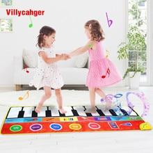 148x60cm büyük boy müzik oyun matı ile enstrüman sesler dans oyun piyano halı eğitici zeka gelişmekte oyuncaklar