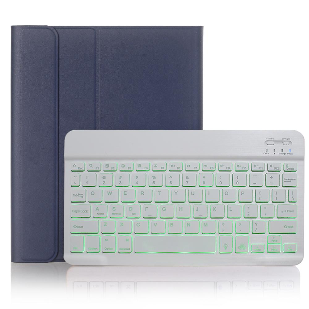 Blue with White Green Keyboard Case for iPad Air 4th 4 10 9 2020 A2324 A2072 Cover 7 Colors Backlit