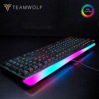 Beruf Gaming mechanische tastatur RGB backlit 112 schlüssel verdrahtete Optische achse Russisch/Englisch layout tastatur für Computer gamer