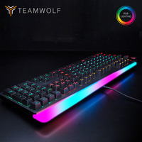 Profession Gaming mechanical keyboard RGB backlit 112 keys wired Optical axis Russian/English layout keyboard for Computer gamer