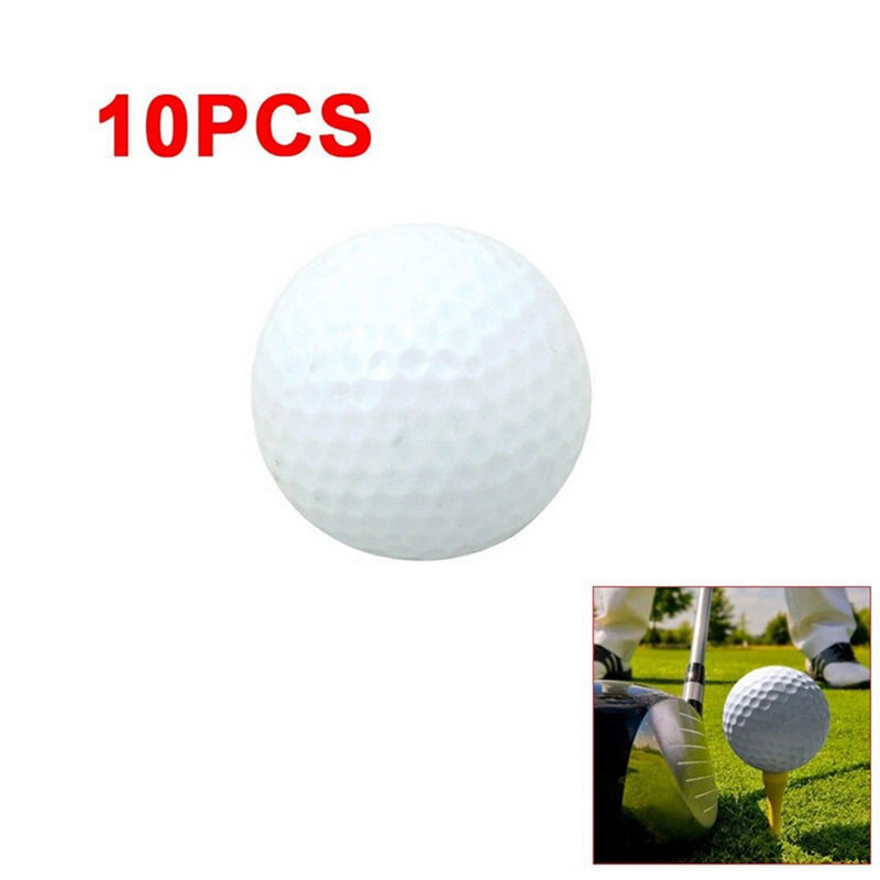 10pcs Golf Ball PU Foam Hollow Out Sports Training Tennis White Golfball Round Practice Golf Accessories