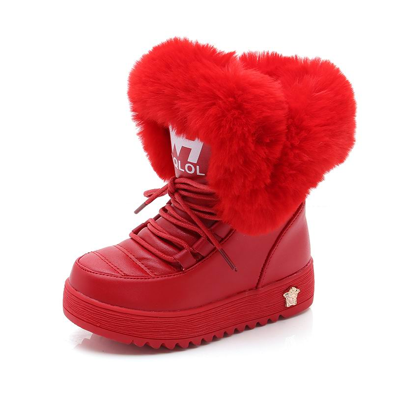 Winter Girls Boots For Kids Shoes Children Snow Boots Warm Footwear Outdoor Plush Mid-Calf School Party Felt Boots Fashion 2019