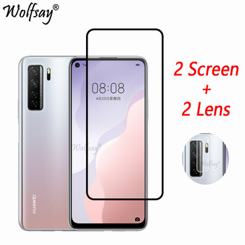 Full Cover Tempered Glass For Huawei P40 Lite 5G Screen Protector Huawei P40 Lite 5G Camera Glass For Huawei P40 Lite 5G Glass