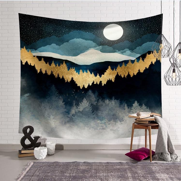 Wall Hanging Mandala Tapestry Print For Living Bedroom Decor Boho Tapestry Yoga Pad Sleeping Tapestry 230x180cm