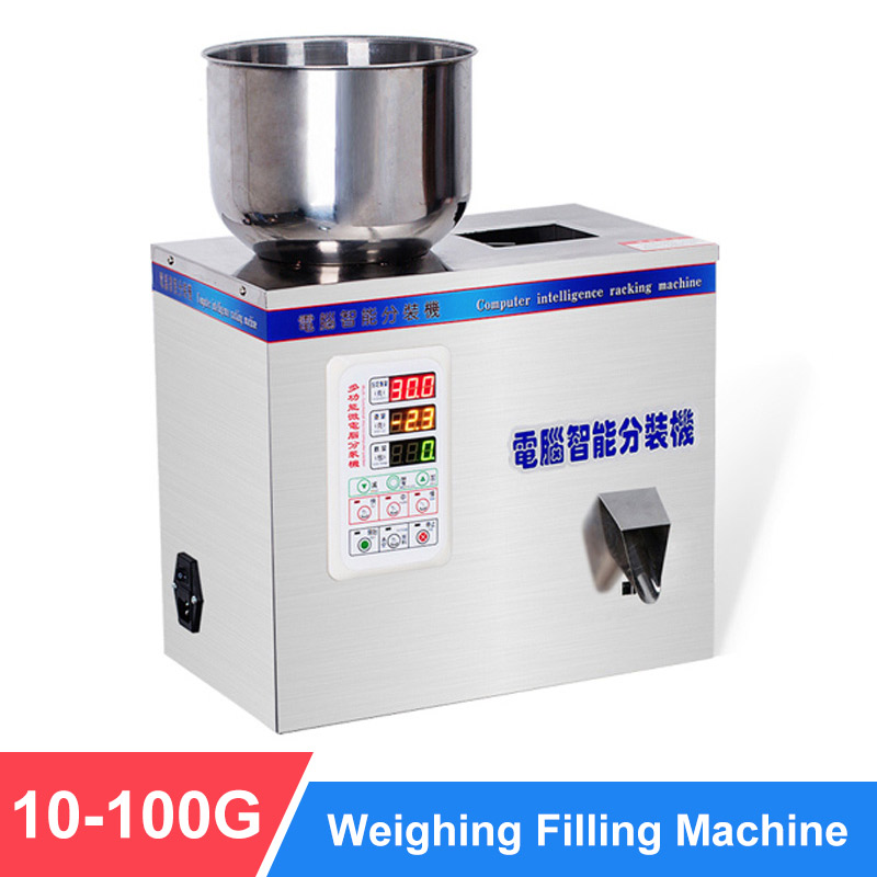 YTK 100G Granule Powder Filling Machine Automatic Weighing Machine Medlar Packaging Machine For Tea Bean Seed Particle