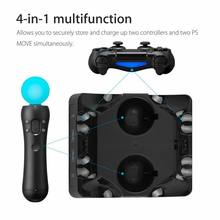 Controller Charger Dock For PS4/MOVE/PS4 VR 4 In 1 Multifunctional Quick Charging Station Stand(China)