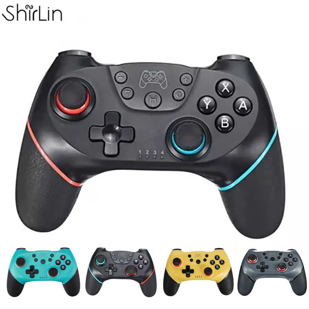 2020 Bluetooth Pro Gamepad para Nintendo Switch Console Video Game Gaming Controller Control USB Joystick N-Switch NS-Switch Pro NS Wireless Mini Gamepad con mango de 6 ejes