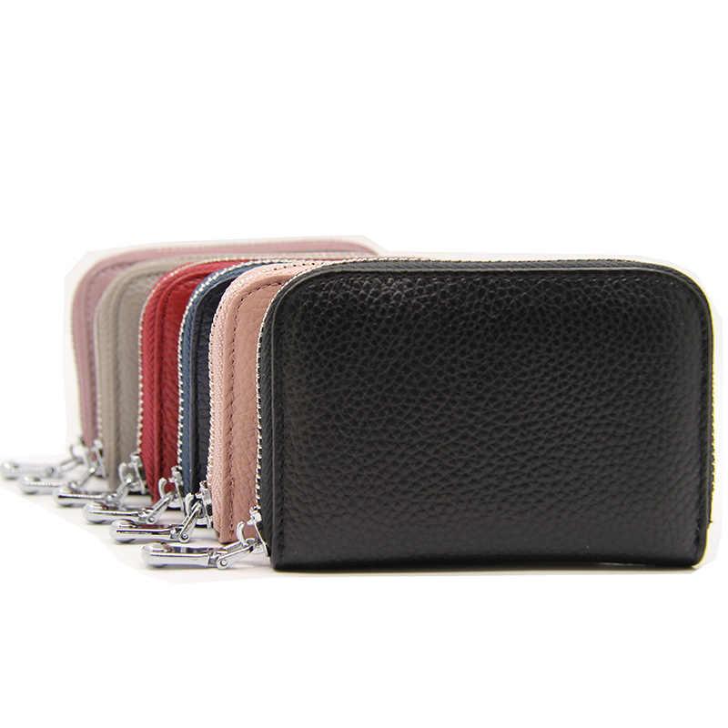 RFID Bank บัตรเครดิตผู้ถือกระเป๋าสตางค์ผู้ชายผู้หญิงธุรกิจ Creditcard กรณีป้องกันผู้ถือบัตร Porte carte