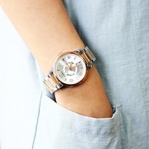 Image 3 - SINOBI 제네바 시계 황금 여성 패션 시계 팔찌 손목 시계 날짜 쿼츠 시계 유명 브랜드 숙녀 Montre Femme
