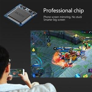 Image 3 - Aun Mini Projector X3, Ingebouwde Multimedia Systeem Video Beamer, Ondersteuning Mobiele Telefoon Screen Mirroring, 3D Projector Voor 1080P