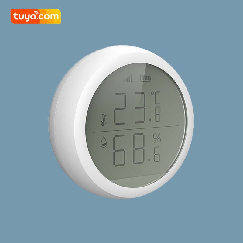 2020 New ZigBee Temperature Humidity Sensor Smart Home Automation With LCD Screen Display Work With TuYa Smart Life ZigBee Hub