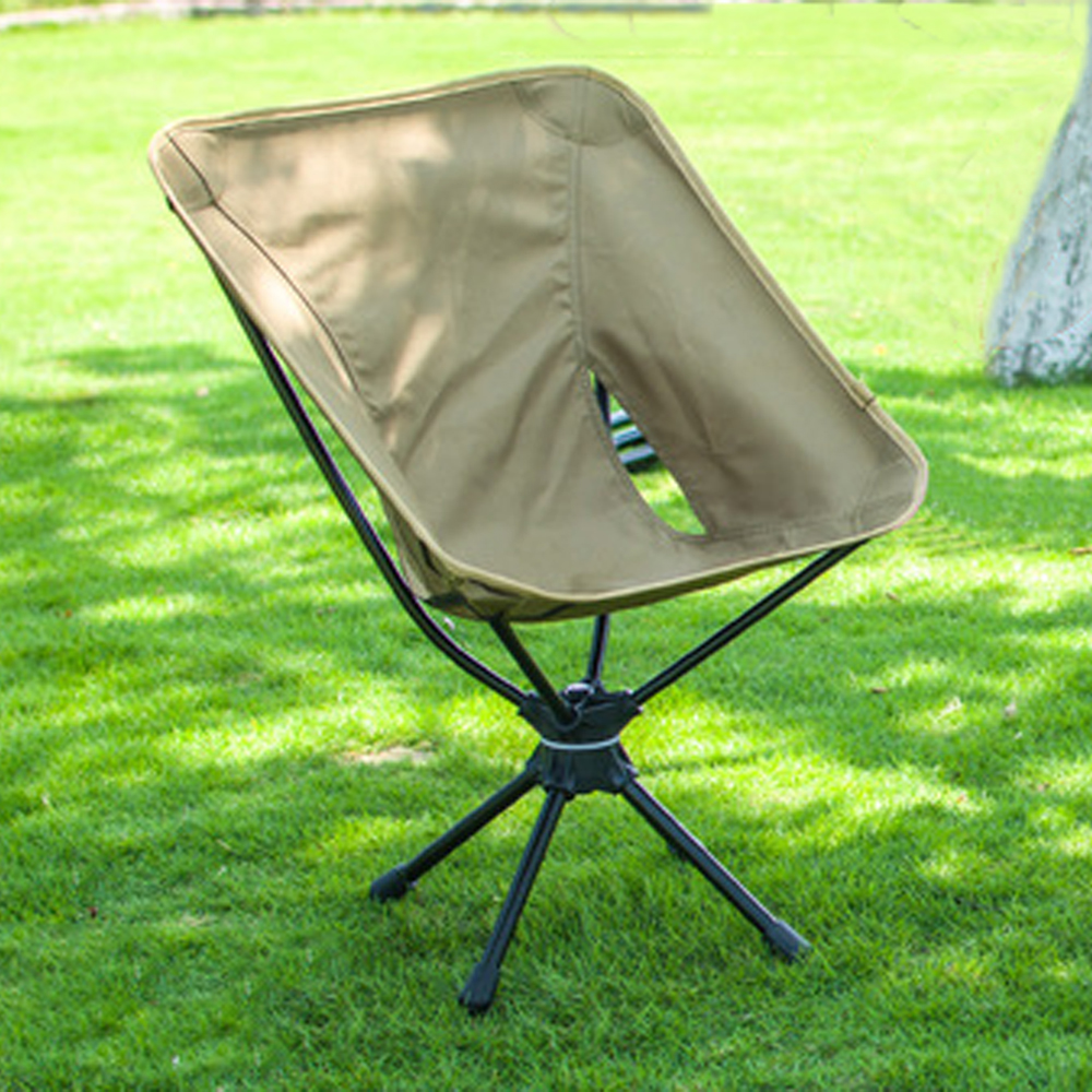 HooRu Swivel Chairs Picnic Beach Fishing Folding Chair Outdoor Backpacking Lightweight Chair with Carry Bag for Camping Hiking