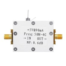 RF Amplifier Low Noise Amplifier Ham Radio Module LNA 50M-4GHz NF=0.6DB RF FM HF VHF / UHF Ham Radio -110DBm(China)