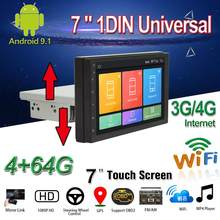 "1DIN/2DIN Mobil Dvd Player 7 ""Android 9.1 Car Multimedia Player dengan Down Adjustable Layar WIFI/ 3G/4G Bt GPS Mobil Radio Stereo(China)"