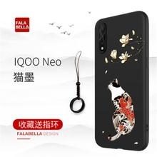 2019 Great Emboss Phone Case For Vivo iqoo Neo cover Kanagawa Waves Carp Cranes 3D Giant relief Iqoo Pro 5G