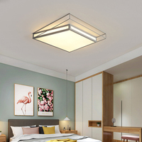 Modern LED wrought iron ceiling lamp for living room bedroom support remote control LED surface mount light