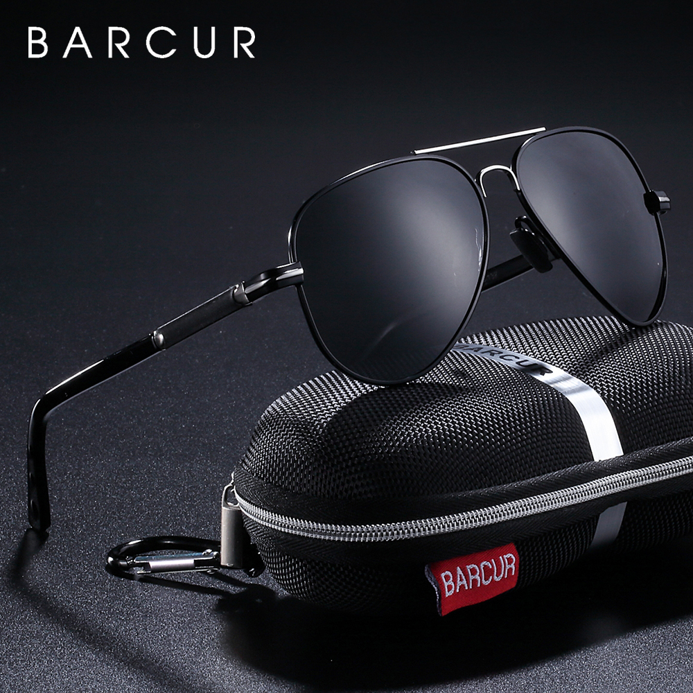 BARCUR Polarized Mens Sunglasses Pilot Sun glasses for Men accessories Driving Fishing Hiking Eyewear Oculos Gafas De Sol
