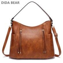 Кожаная сумка женские сумки женская сумка на плечо модные сумочки винтажные Bolsas Большая вместительная сумка