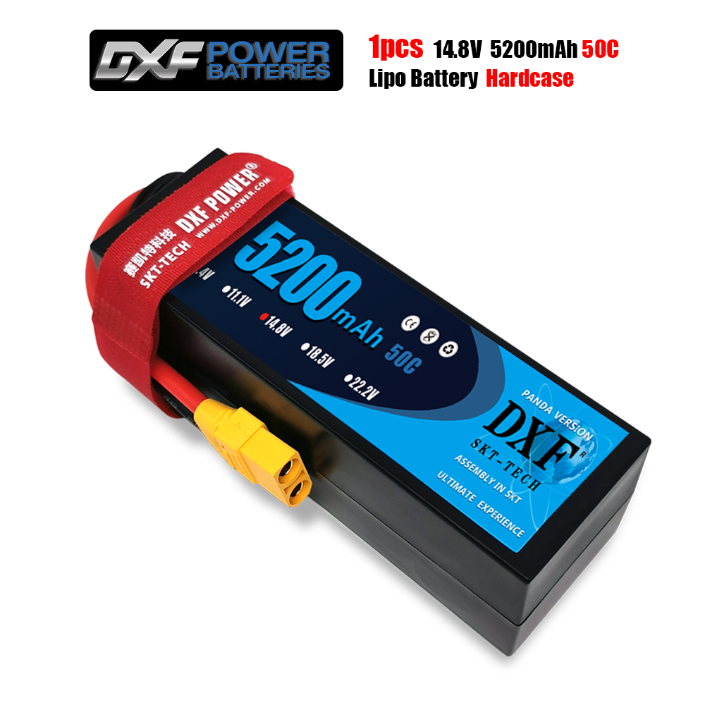 DXF 14.8V LiPo Battery For RC 5200mAh Battery Lipo 4S 50C With Deans T Plug For RC Buggy Truggy Crawler Monster Boat Truck