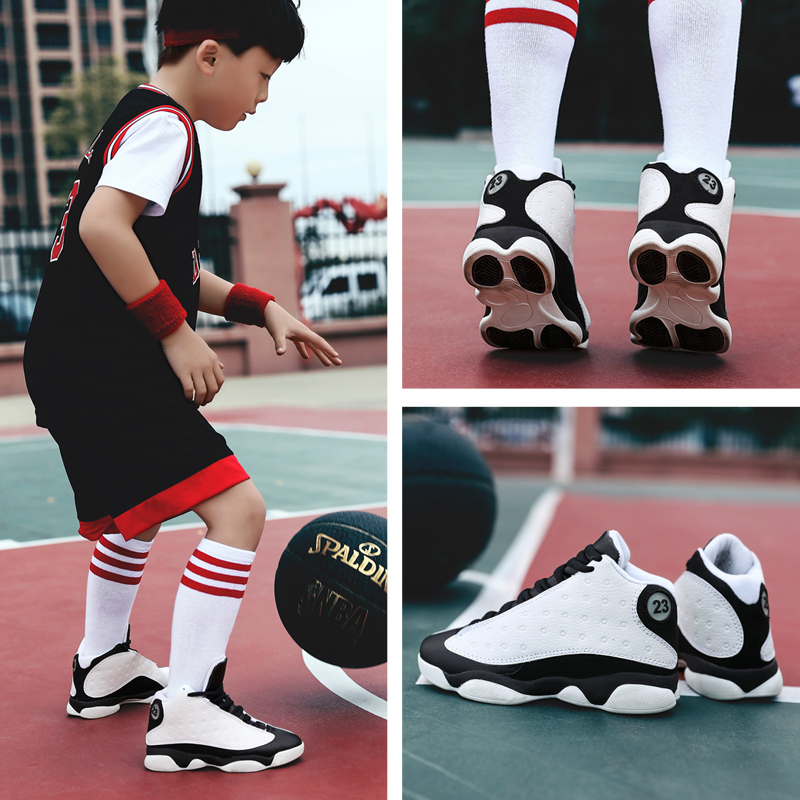 New Spring Children Boy Basket Shoes Brand Jordan Sport Shoes Kids Sneakers Outdoor Men Basketball Running Shoes EUR Size 31-40