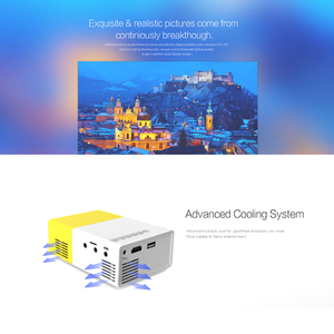Image 5 - YG 300แบบพกพาMini Projector1080P J9 Mini Homeโปรเจคเตอร์สนับสนุน1080P AV USB SDการ์ดUSBแบบพกพาBeamer