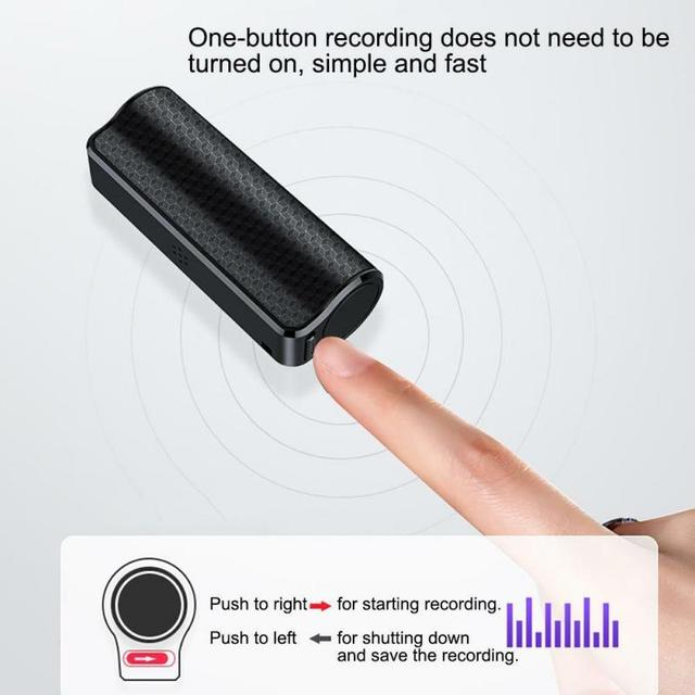 8GB Small Voice Activated Mini Clip On Magnetic  2