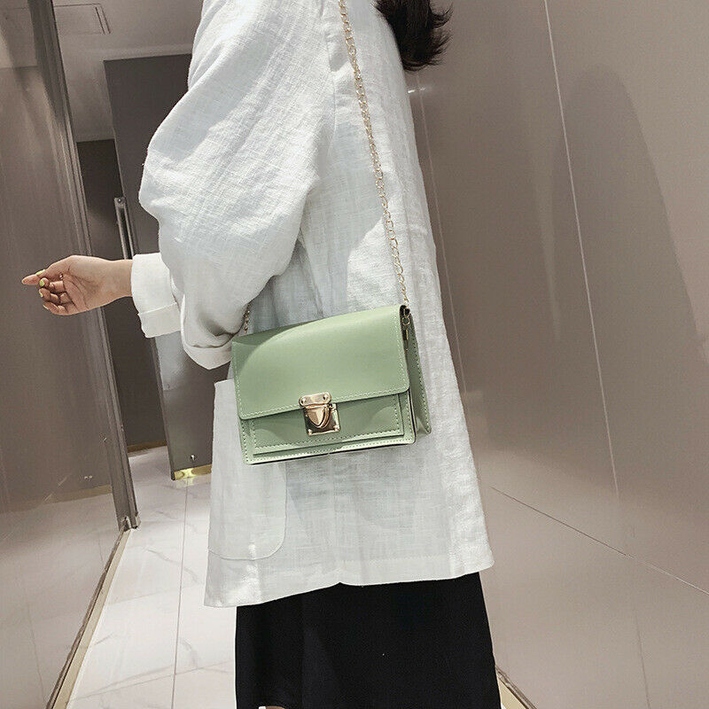 European Fashion handbag Female Square Bag 2019 New Quality PULeather Women's Designer Handbag Lock Chain Shoulder Messenger bag
