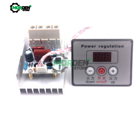 10000W AC <font><b>220V</b></font> Power <font><b>Regulator</b></font> SCR <font><b>Voltage</b></font> <font><b>Regulator</b></font> Dimmer Electric Motor Speed Controller Thermostat With Swith image