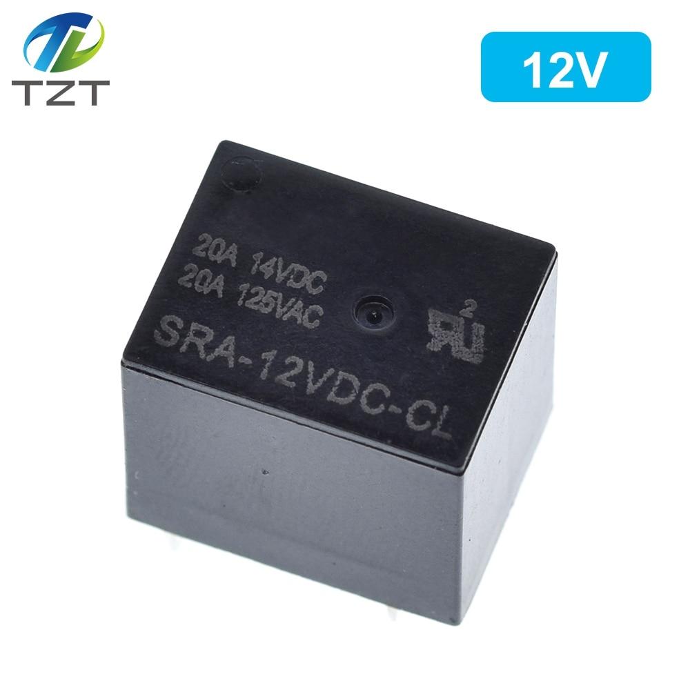 Image 3 - 50PCS Power relays SRA 05VDC CL SRA 12VDC CL SRA 24VDC CL 5V 12V 24V 20A 5PIN T74 5PIN CMA51 HFKW DC Mini Power Relayrelay dcdc dcrelay 20a -