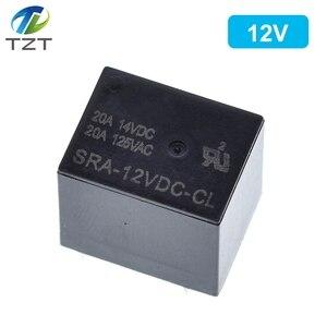 Image 3 - Relè di potenza 50PCS SRA 05VDC CL SRA 12VDC CL 5V 12V 24V 20A 5pin T74 5pin CMA51 HFKW DC Mini relè di potenza